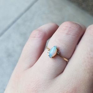Midcentury Opal Ring